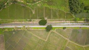 Воздушное взгляд сверху взгляд сверху дороги Стоковое Фото