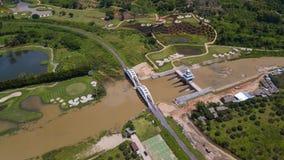 Воздушное взгляд сверху взгляд сверху дороги Стоковые Изображения RF
