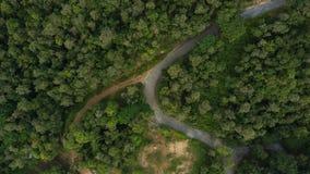 Воздушное взгляд сверху взгляд сверху дороги Стоковое фото RF