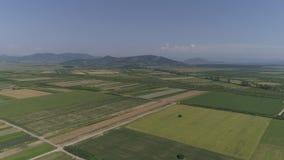 Воздушное видео города в конематке Румынии Satu сток-видео