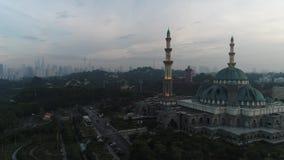 Воздушное видео мечети федеральной территории акции видеоматериалы