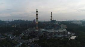 Воздушное видео мечети федеральной территории видеоматериал