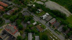Воздушное видео показывает проект освоения земель 4k Майами видеоматериал