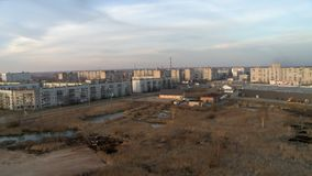 Воздушное видео района городка акции видеоматериалы