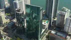 Воздушное видео сцены Майами города Brickell видеоматериал