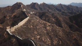 воздушное видео 4k Великой Китайской Стены Jinshanling акции видеоматериалы
