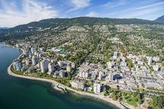 Воздушное изображение западного Ванкувера, ДО РОЖДЕСТВА ХРИСТОВА Стоковые Фотографии RF