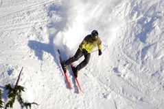 Воздушное изображение Mt Лыжный курорт горных лыж Вашингтона, остров ванкувер, ДО РОЖДЕСТВА ХРИСТОВА, Канада стоковое изображение