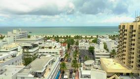 Воздушное лето в Miami Beach Флориде видеоматериал