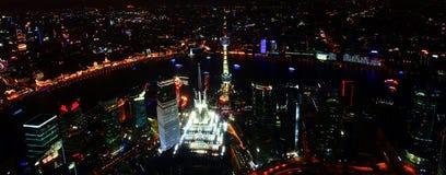 воздушное место shanghai ночи фарфора Стоковое Изображение
