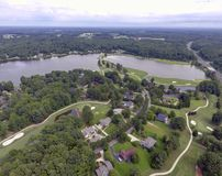 Воздушное поле для гольфа стоковая фотография