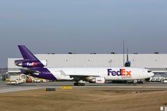 Воздушное судно Federal Express приезжает в Чикаго Стоковые Изображения RF