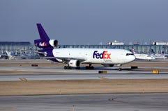 Воздушное судно Federal Express приезжает в Чикаго Стоковое Изображение