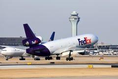 Воздушное судно Federal Express приезжает в Чикаго Стоковое фото RF