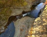 Воздушное ущелье речных порогов HDR Стоковые Фото