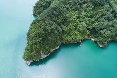 Воздушное фотографирование запруды Shihmen стоковые изображения rf