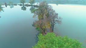 Воздушное фотографирование - пейзаж осени ботанического сада акции видеоматериалы