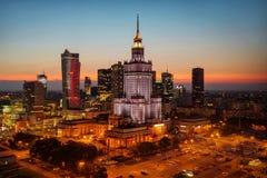 Воздушное фото дворца культуры и науки в Варшаве p Стоковые Изображения