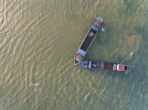 Воздушное фото - корабль 2 на океане Стоковые Изображения