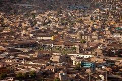 воздушное фото Перу города ayacucho Стоковые Изображения RF