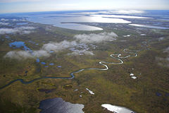воздушное фото предпосылок Стоковая Фотография