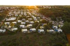 Воздушное фото располагаться лагерем около novigrad, istria Стоковые Фото