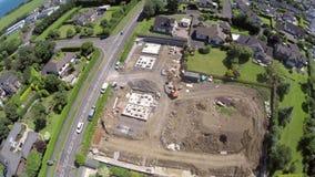 Воздушное фото строительной площадки Стоковые Изображения RF