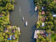 Воздушное фото Alappuzha Индии стоковое фото rf