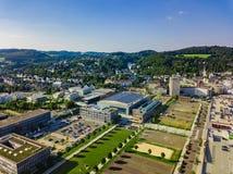 Воздушное фото Gummersbach Стоковое Изображение
