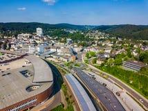 Воздушное фото Gummersbach Стоковая Фотография RF