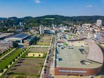Воздушное фото Gummersbach Стоковое фото RF