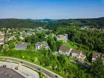 Воздушное фото Gummersbach Стоковая Фотография