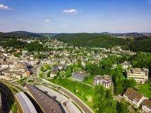 Воздушное фото Gummersbach Стоковые Фотографии RF