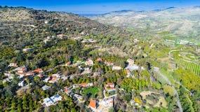 Воздушное Miliou, Paphos, Кипр Стоковое Изображение
