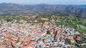 Воздушное Pano Lefkara, Ларнака, Кипр Стоковое Фото