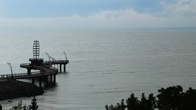 Воздушное timelapse пристани Burlington, Канады 4K сток-видео