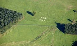 воздушные поля доят взгляд sos Стоковая Фотография RF