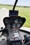 Воздушные судн, вертолет, панель Стоковое Изображение