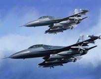 воздушные судн воздуха принуждают нас Стоковая Фотография