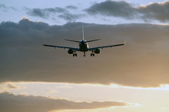 Воздушные судн в облаках Стоковые Изображения RF
