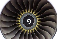 Воздушные судн двигателя с концом-вверх лезвий с желтым кругом около центра Стоковое Фото