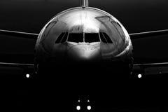 воздушные судн закрывают нос вверх Стоковые Изображения
