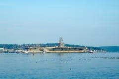Воздушные судн USS Nimitz более acrrier Стоковые Фотографии RF
