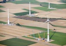 воздушные турбины строительной площадки осматривают ветер Стоковое Изображение