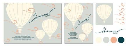 Воздушные шары в небе с милым ветром Стоковая Фотография
