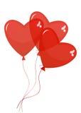 Воздушные шары в форме сердца иллюстрация штока