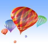 воздушные шары горячие иллюстрация вектора