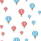 Воздушные шары летая картина вектора мультфильма безшовная иллюстрация штока