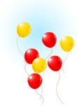 воздушные шары летая небо Бесплатная Иллюстрация