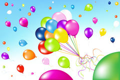 воздушные шары образовывают цветастый вектор иллюстрация штока